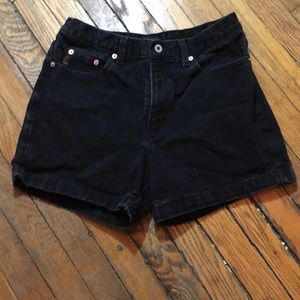 GUESS High-waisted black denim shorts. Size 29.